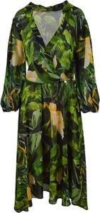 Sukienka Liu-Jo z dekoltem w kształcie litery v asymetryczna w stylu casual