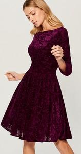 Sukienka Mohito midi z tkaniny z długim rękawem