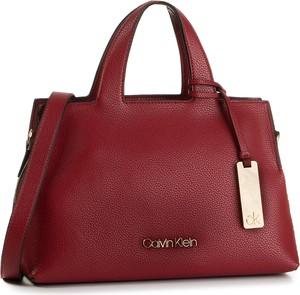 Czerwona torebka Calvin Klein duża do ręki