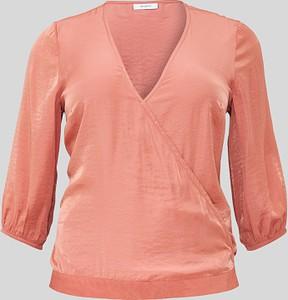 Różowa bluzka YESSICA z długim rękawem