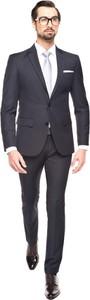 Szary garnitur recman bez wzorów