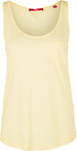 Żółty t-shirt S.Oliver w stylu casual