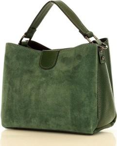 Zielona torebka MAZZINI matowa