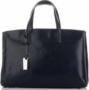 Czarna torebka GENUINE LEATHER na ramię