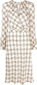 Sukienka Elisabetta Franchi z długim rękawem z okrągłym dekoltem
