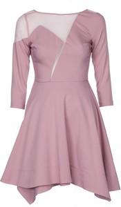 Sukienka VISSAVI mini asymetryczna z długim rękawem