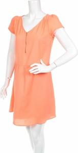 Pomarańczowa sukienka K Woman gorsetowa
