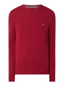 Czerwony sweter Christian Berg Men w stylu casual