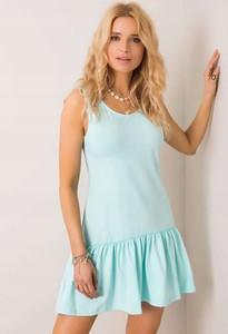 Niebieska sukienka Inna z bawełny mini