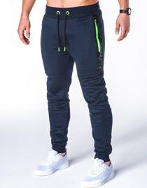 Granatowe spodnie sportowe ombre clothing z bawełny