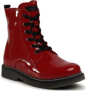 Czerwone buty dziecięce zimowe Lasocki Young