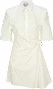 Sukienka Off White koszulowa w stylu casual mini