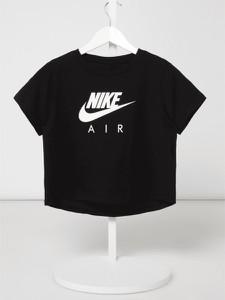 Czarna bluzka dziecięca Nike z krótkim rękawem z bawełny