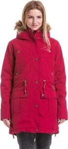 Różowa kurtka Meatfly długa w stylu casual