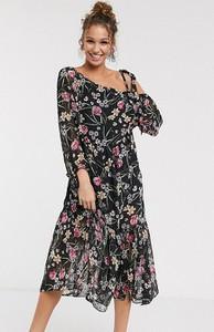 Granatowa sukienka Dark Pink midi oversize