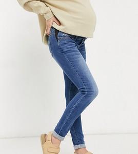 Mama Licious Mamalicious Maternity – Niebieskie dopasowane jeansy z prostymi nogawkami
