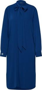 Niebieska sukienka POLO RALPH LAUREN z długim rękawem mini