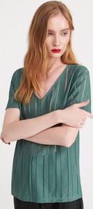 Turkusowy t-shirt Reserved z krótkim rękawem