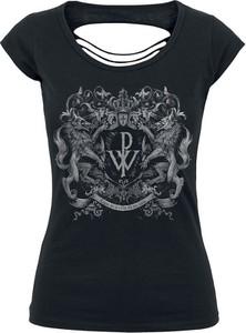 T-shirt Powerwolf z bawełny w młodzieżowym stylu z nadrukiem