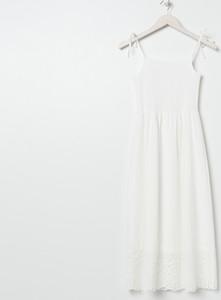 Sukienka Sinsay midi z okrągłym dekoltem bez rękawów