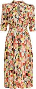 Sukienka Elisabetta Franchi maxi koszulowa z kołnierzykiem