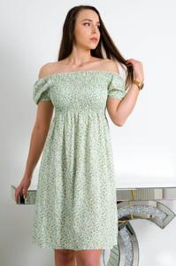 Zielona sukienka Olika w stylu casual hiszpanka