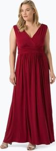 Czerwona sukienka Swing Curve maxi