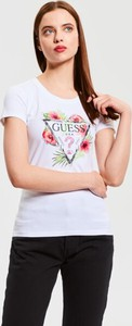 Bluzka Guess z okrągłym dekoltem w młodzieżowym stylu