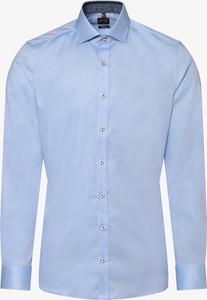 Niebieska koszula Olymp Level Five z klasycznym kołnierzykiem