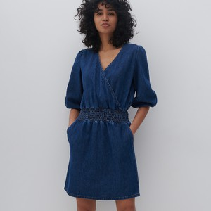 Sukienka Reserved z dekoltem w kształcie litery v w stylu casual z bawełny