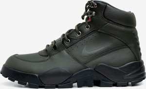 Czarne buty zimowe Nike sznurowane ze skóry