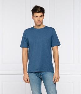 Niebieski t-shirt Hugo Boss w stylu casual