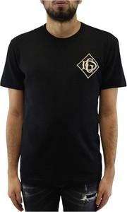 Czarny t-shirt Dolce & Gabbana z krótkim rękawem