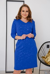 Niebieska sukienka tono.sklep.pl w stylu casual z długim rękawem