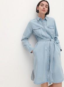 Sukienka Reserved z jeansu w stylu casual z długim rękawem