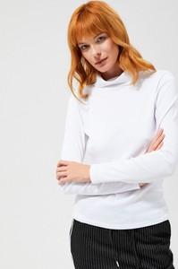 Bluzka Moodo z golfem z bawełny z długim rękawem