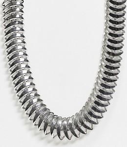 ASOS DESIGN – Srebrny naszyjnik z łańcuszkiem w kształcie szkieletu ryby