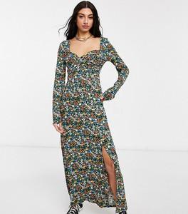 Sukienka Asos z dekoltem w kształcie litery v z długim rękawem kopertowa