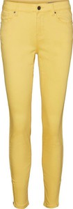 Żółte jeansy Vero Moda
