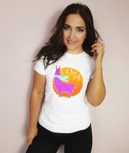 T-shirt Time For Fashion z okrągłym dekoltem z krótkim rękawem z bawełny