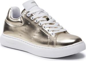 Buty sportowe Trussardi na platformie sznurowane