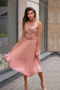 Różowa sukienka Ivet.pl midi