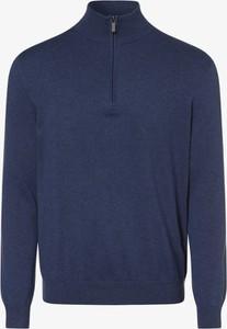 Niebieski sweter Andrew James ze stójką z bawełny