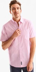 Różowa koszula CANDA z krótkim rękawem