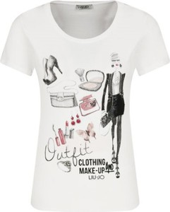 T-shirt Liu-Jo z okrągłym dekoltem w młodzieżowym stylu