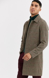 Brązowy płaszcz męski Gianni Feraud w stylu casual z jedwabiu
