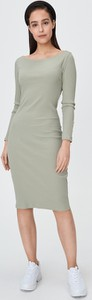 Sukienka Sinsay z długim rękawem w stylu casual midi