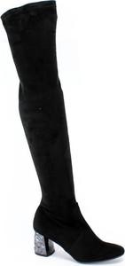 Kozaki Oleksy na obcasie ze skóry za kolano