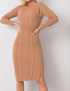 Sukienka Pretty Style mini z okrągłym dekoltem z długim rękawem