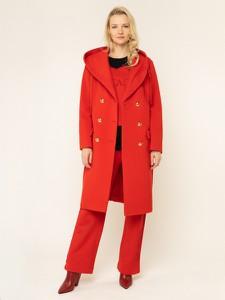 Czerwony płaszcz Escada Sport w stylu casual